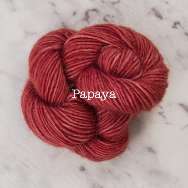 Rosabella PRIMA kid silk merino yarn_PAPAYA