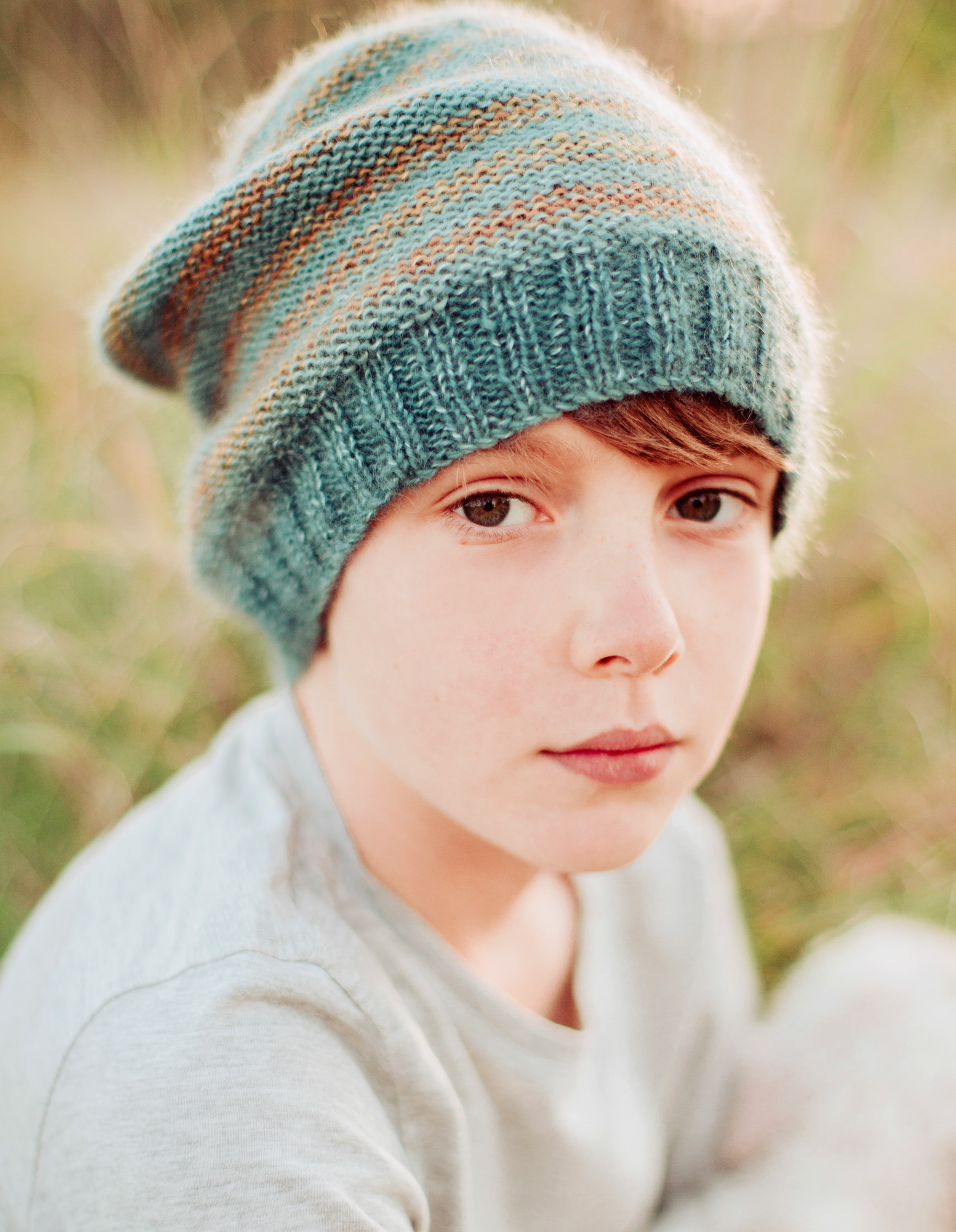 Rosabellathreads Prima Kid Silk Flynn Beanie Kit
