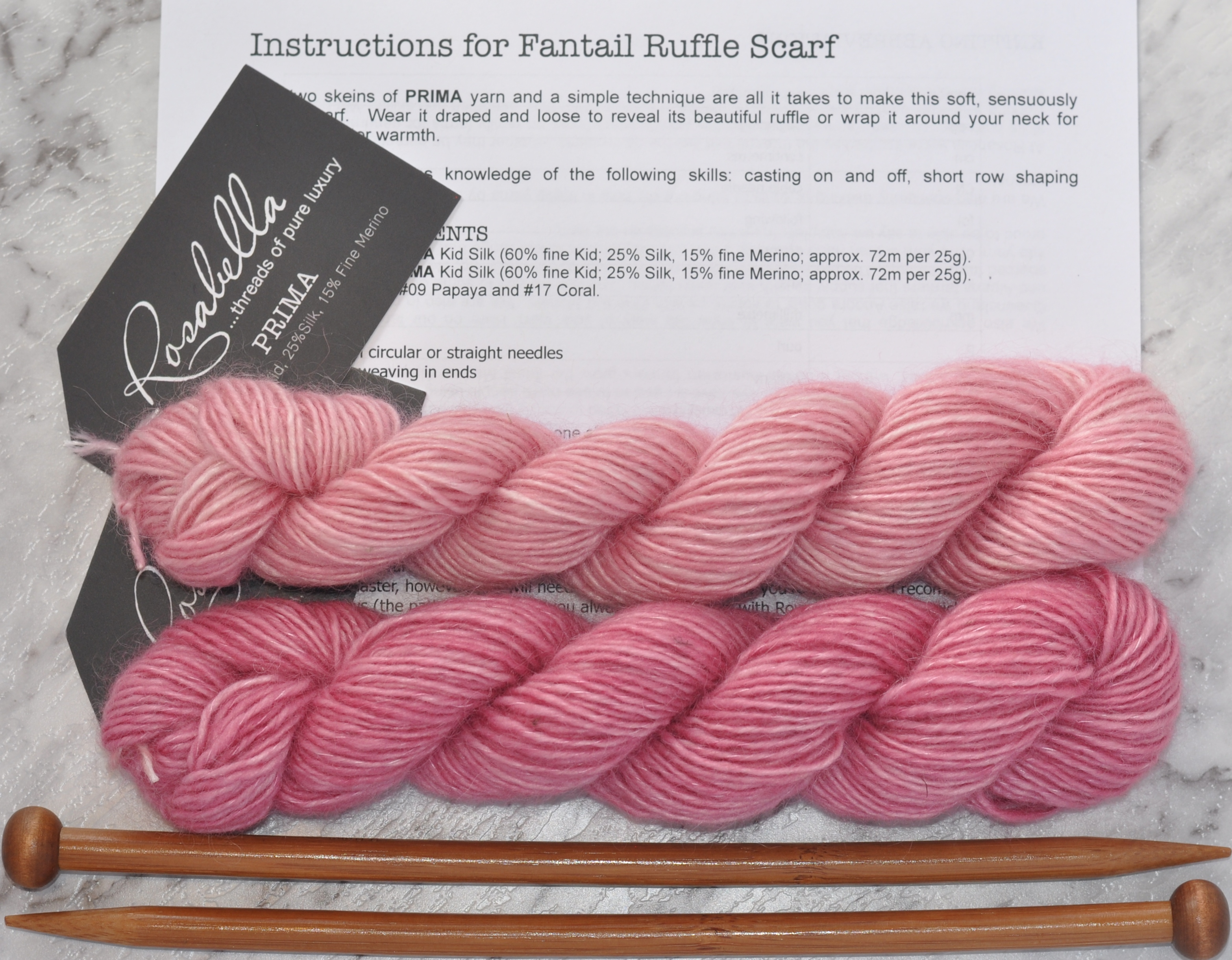 Prima Fine Kid Merino 5 ply yarn Rose and Lotus