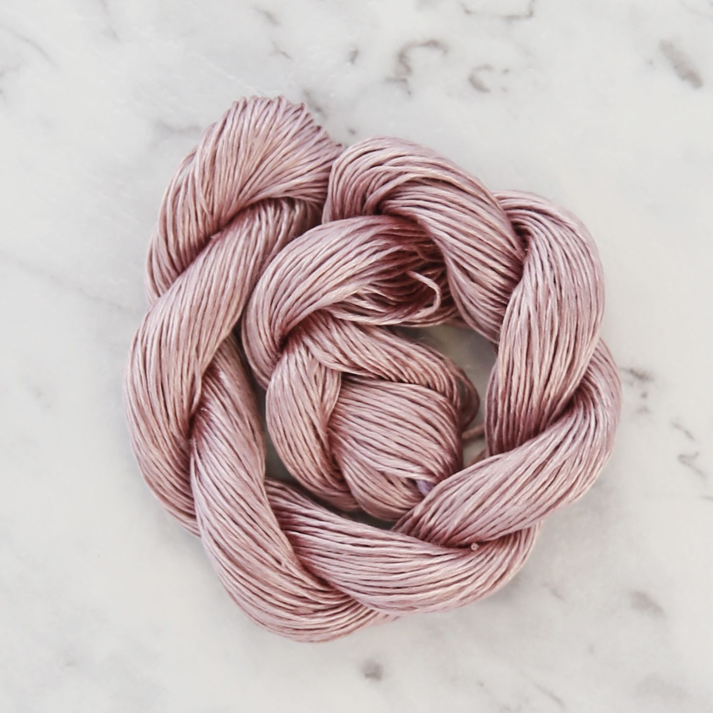 Rosabella-Dolce-100-silk-yarn_TEA-ROSE